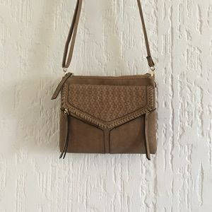 Crossbody Purse Tan & Gold